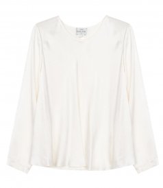 SHIRTS - SILK SATIN ROUND SHIRT