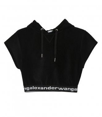 T BY ALEXANDER WANG - STRETCH CORDUROY HOODIE