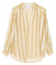 SHIRTS - STRIPED SILK SHIRT