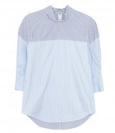 CLOTHES - LS STRIPED PATCHWORK SHIRT