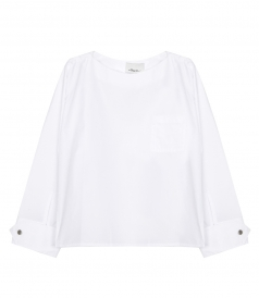 CLOTHES - POPLIN BLOUSE WITH SNAP CUFS