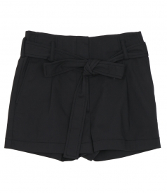 SHORTS - BELTED HIGHT WAIST SHORTS