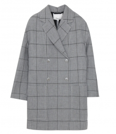 3.1 PHILLIP LIM - WINDOW PANE CARDIGAN COAT