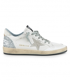 WHITE LEATHER BALL STAR SNEAKERS