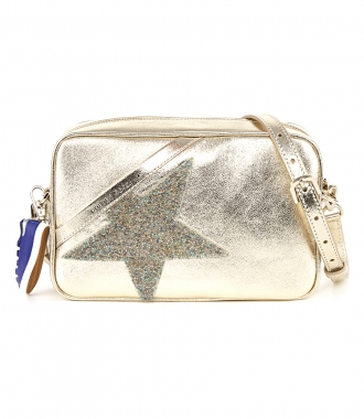 GOLDEN GOOSE  - GOLD STAR BAG WITH CRYSTALS