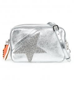 STAR BAG MADE OF LAMINATED LEATHER WITH CRYSTALS