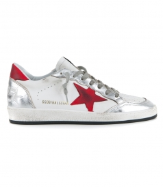 SHOES - WHITE LEATHER BALL STAR SNEAKERS