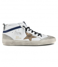 WHITE BLUE MID STAR SNEAKERS