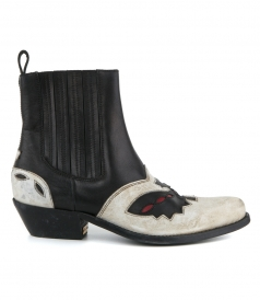 SANTIAGO ANKLE BOOTS IN LEATHER WITH DECORATION