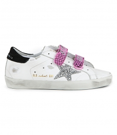 SHOES - OLD SCHOOL SNEAKERS WITH SILVER GLITTER  STAR