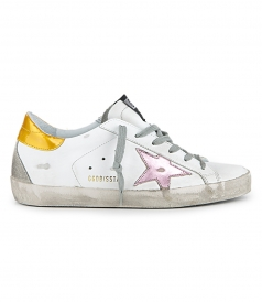 SHOES - GOLD PINK STAR SUPERSTAR SNEAKERS