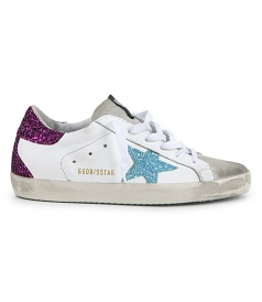 SHOES - LIGHT BLUE STAR SUPERSTAR SNEAKERS