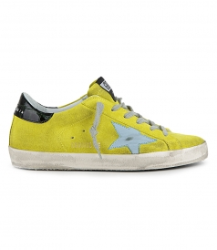SHOES - YELLOW SUEDE SUPERSTAR SNEAKERS