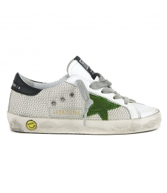 SHOES - SILVER MESH SUPERSTAR SNEAKERS