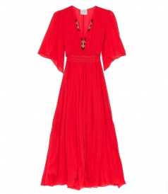 CLOTHES - VOILE EMBROIDERED LONG DRESS