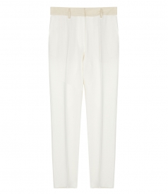 FORTE FORTE - DOUBLE CREPE WOOL PANTS