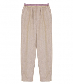 CLOTHES - LINEN LUREX DIAGONAL JOGGING