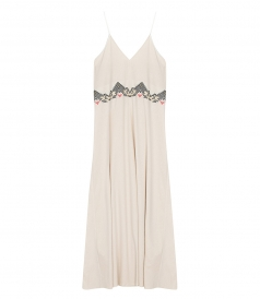 CLOTHES - SILK EMBROIDERED LONG DRESS