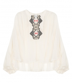 SHIRTS - VOILE EMBROIDERED SHIRT