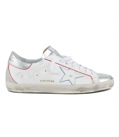 SHOES - RED & BLUE PROFILE SUPERSTAR SNEAKERS