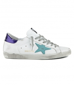 SEA BLUE STAR SUPERSTAR SNEAKERS
