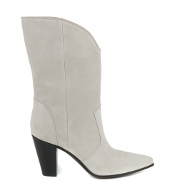 SHOES - RAPHAEL CREAM SUEDE BOOTS