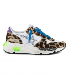 SHOES - LEOPARD PONY RUNNING SNEAKERS