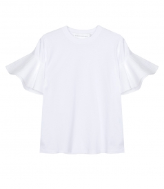CLOTHES - RUFFLE SLEEVE T-SHIRT