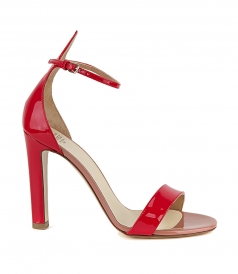 SANDALS - PATENT COLOUR BLOCK SANDALS