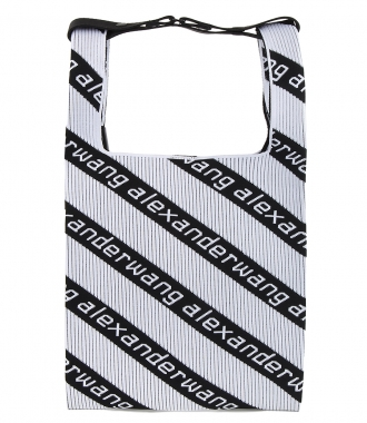 ALEXANDER WANG - MEDIUM LOGO JACQUARD SHOPPER
