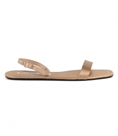 SANDALS - RYDER FOLDING FLAT NUDE SATIN