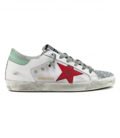SHOES - GLITTER SILVER SUPERSTAR SNEAKERS