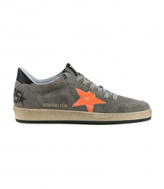 GOLDEN GOOSE  - ORANGE FLUO STAR BALL STAR SNEAKERS