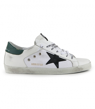 GOLDEN GOOSE  - BLACK STAR SUPERSTAR SNEAKERS