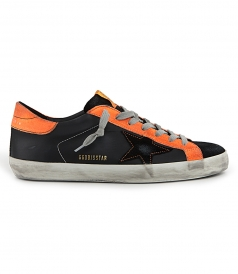 GOLDEN GOOSE  - ORANGE FLUO SUPERSTAR SNEAKERS