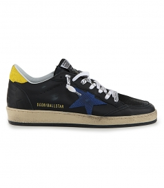 GOLDEN GOOSE  - BLU LIZARD BALL STAR SNEAKERS