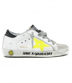 GOLDEN GOOSE  - PAINTED STAR SUPERSTAR SNEAKERS