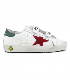 GOLDEN GOOSE  - WHITE OLD SCHOOL SNEAKERS