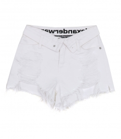 DENIM X ALEXANDER WANG - RUNWAY BITE FLIP SHORTS