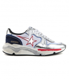 GOLDEN GOOSE  - METAL RUNNING SOLE SNEAKERS