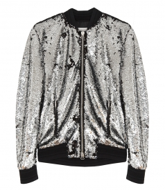 CLOTHES - JOSHUA BOMBER JACKET WITH SILVERY SEQUINS