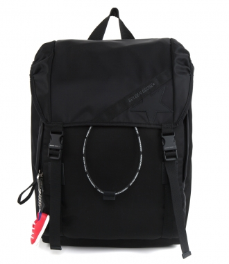 GOLDEN GOOSE  - BLACK NYLON JOURNEY BACKPACK