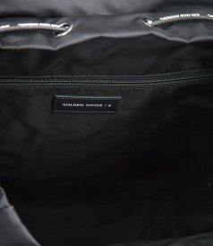BLACK NYLON JOURNEY BACKPACK