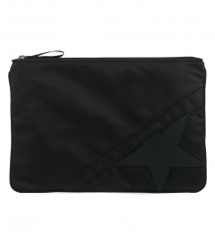 BAGS - LARGE BLACK NYLON JOURNEY POUCH