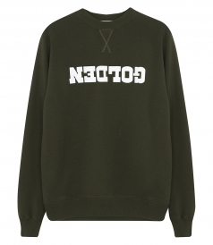 SWEATSHIRT WITH CONTRASTING GOLDEN LOGO