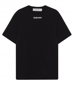 GOLDEN GOOSE  - BLACK PRINTED T-SHIRT