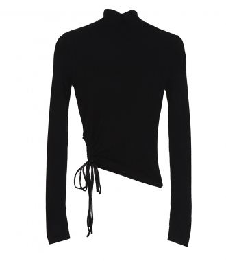 T BY ALEXANDER WANG - RUCHED WOOL TURTLENECK
