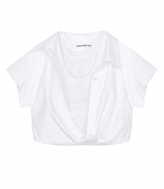 SHIRTS - FALLING SHOULDER CUT OFF SHIRT