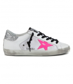 SHOES - PINK STAR SUPERSTAR SNEAKERS