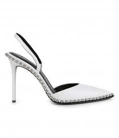 PUMPS - RINA WHITE LEATHER PUMP